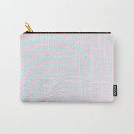 Swirl 60ies in pink and aqua - Circles on #Society6 Carry-All Pouch