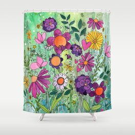 Purple Plum Parfait Shower Curtain