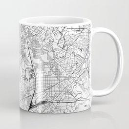 Washington D.C. White Map Coffee Mug