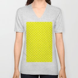 Dots (White/Yellow) Unisex V-Neck