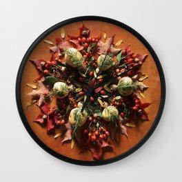 Nature Mandala: October II Wall Clock