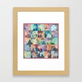 CS patchwork Framed Art Print