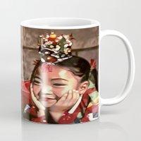 korean Mugs featuring Korean Dancing Girls II by Robert S. Lee Art