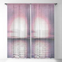 Sunset in Pegasus Sheer Curtain