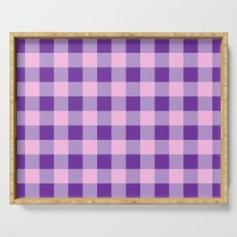 Purple and Pink Check Serving Tray