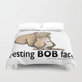 Resting Bob Face Duvet Cover