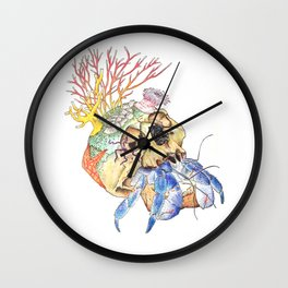 Home I: Hermit Crab Wall Clock