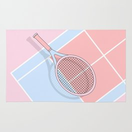 Hold my tennis racket Rug
