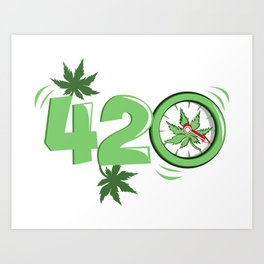 It's 420 Time Art Print