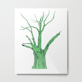 Old Green Tree Metal Print