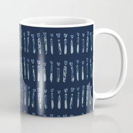 Indigo Tie Dye Stripes Shapes Drawn Grunge Coffee Mug