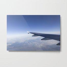 Heavenly Blue Skies Flying Metal Print