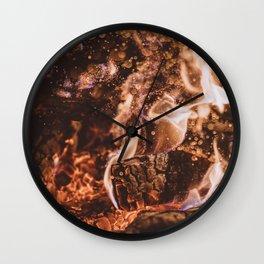 Fire II - Summer Campfire Wall Clock