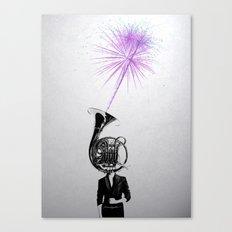 horn player Canvas Print