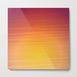 Sunset Gradient Colors Metal Print