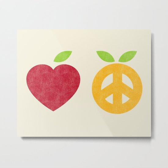 Apple and Orange - Love and Peace Metal Print
