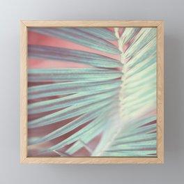 Tropical Leaf in Pink and Aqua Framed Mini Art Print