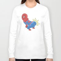booty Long Sleeve T-shirts featuring Spidey Booty by Pengew