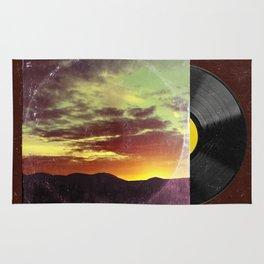 American Sunset As Vintage Album Art Rug
