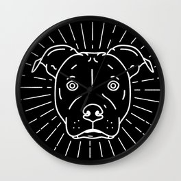 Radiant Dog Print – black and white Wall Clock