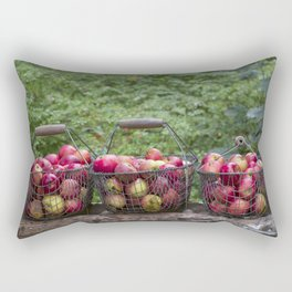Autumn Apples Rustic Organic Food Still Life Rectangular Pillow