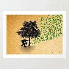 Trees Cry Butterflies Art Print