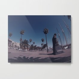 Blue Sky Over Spain Metal Print