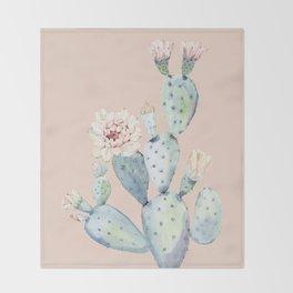 Desert Rose Cactus Pink Throw Blanket