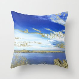 Orencyel walking inThéoule Throw Pillow