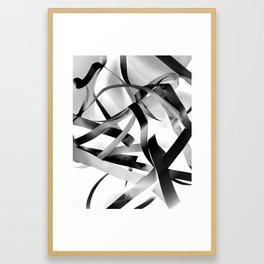 Black paper stripes Framed Art Print