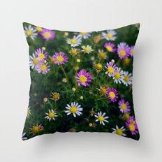 little pink flowers. Throw Pillow