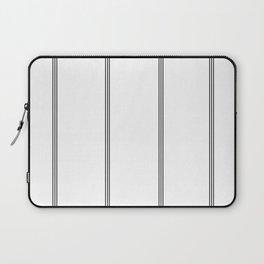 Minimal Black White Stripe Glam #2 #lines #decor #art #society6 Laptop Sleeve