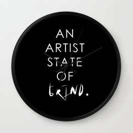 NY state of mind, Artist state of grind Wall Clock