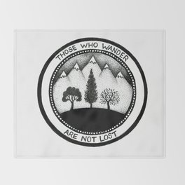 Wanderling Woods Throw Blanket