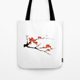 Asian style painting - Plum Blossom Tote Bag