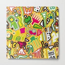 color doodle Metal Print