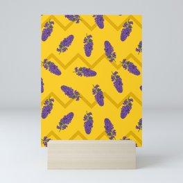 Lilac Maze Purple & Yellow Mini Art Print
