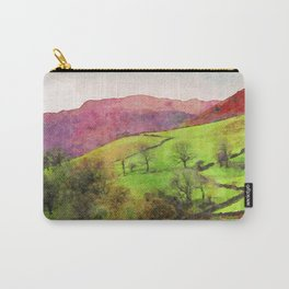 Green Grasmere Hillside, Ambleside, Lake District UK Carry-All Pouch