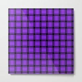 Violet Weave Metal Print