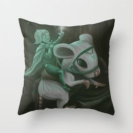 Luminous knight Throw Pillow