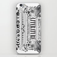 literature iPhone & iPod Skins featuring Literature Poster by Ryan Huddle House of H