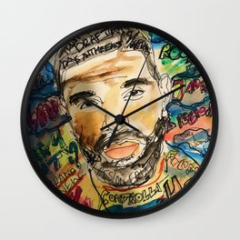ovo,drizzzy,poster,wall art,dope,toronto,graffiti,street art,fan art,music,gift,rap,hiphop,rapper Wall Clock
