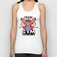 the goonies Tank Tops featuring Sloth Gym Funny Goonies Fitness by Workout Quotes