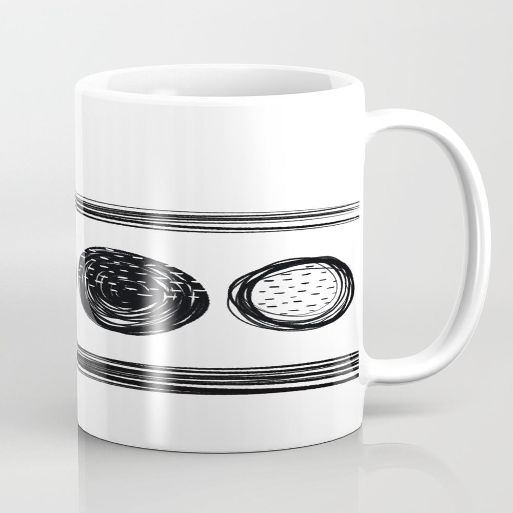 Black White One Mug by Karapeters MUG9062757