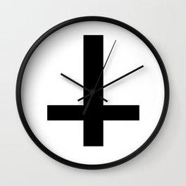 Satanic Cross Wall Clock