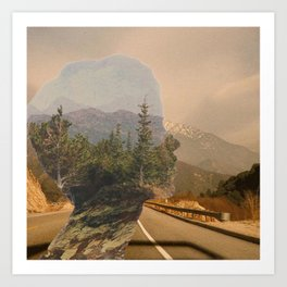 Scenic Mountainside Drive 1 Art Print