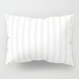 Creamy Tofu White Mattress Ticking Wide Striped Pattern - Fall Fashion 2018 Pillow Sham