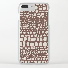Crocodile Clear iPhone Case