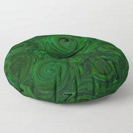 Emerald Green Roses Floor Pillow