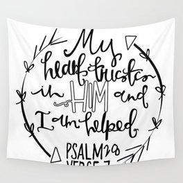Psalm 28 Hand Lettering Wall Tapestry